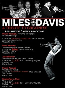 Jason Parker Quartet Pays Tribute to Miles Davis, and Some Thoughts on Tributes